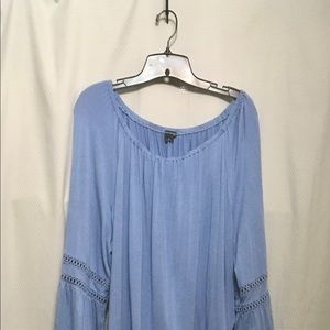Plus Size Light Blue Blouse